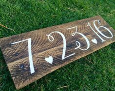 Last name with est. date rustic wooden sign by SignsfromthePines