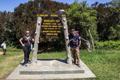 Lina Stock and David Stock of the divergent travelers hiking Mount Kilimanjaro. Climb Mount Kilimanjaro Tanzania Divergent Travelers click to read the full travel blog.