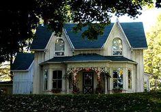 Carpenter Gothic Charmer (HWBDO01757) | Gothic Revival House Plan