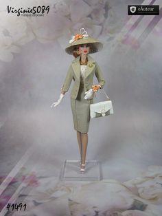 Tenue outfit + accessoires pour fashion royalty barbie silkstone vintage #1491