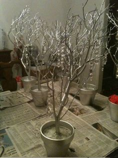 Lorsque l'on voit ce résultat:on se doit waouhhh! Pourtant ce n'est pas si compliqué de réaliser son arbre a souvenirs ou bien son centre de table avec branches: la seul difference c'est le support...
