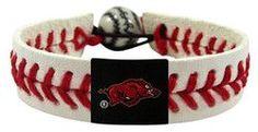 Arkansas Razorbacks Classic Baseball Bracelet