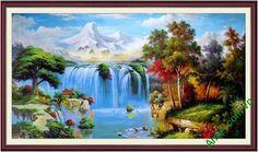 Treo tranh vẽ thác nước trong nhà đem đến một nguồn năng lượng dồi dào,