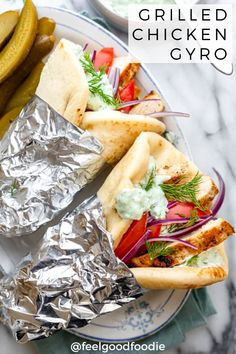 It's so easy to make your own Greek chicken gyros at home! Full of flavor the simple marinated chicken is perfect for easy family lunches and main meals. Make them on an indoor or outdoor grill with all the fixings and drizzled with lots of tzatziki sauce! Best Hummus Recipe, Gyro Recipe, Grilled Lemon Chicken, Marinated Chicken, Classic Caesar Salad, Cheese Stuffed Shells, Chicken Gyros, White Bean Soup, The Fresh