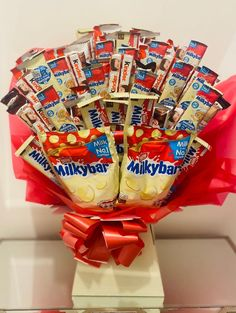 Easter Birthday Party, Happy Birthday Notes, Birthday Gifts, Chocolate Hampers, Chocolate Gifts, Milky Bar Chocolate, Chocolate Boquet, Starbucks, Flower Bouqet