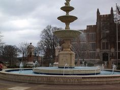 University of N. Alabama fountain - Florence, AL