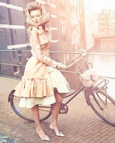 A Dainty Bike Ride, Vogue Netherlands April 2012