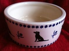 Emma Bridgewater Black Labrador Large Pet Bowl dated 2009