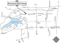Mountain Herb Estate - How to find us Mountain, Herbs, Map, Herb, Maps, Peta