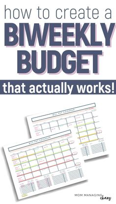 Are you struggling with how to budget biweekly paychecks when you have monthly bills to pay? Check out this ultimate guide to biweekly budgeting. Budgeting Finances | Managing Your Money | How to Budget Biweekly Budgeting System, Budgeting Finances, Budgeting Tips, Best Money Saving Tips, Money Saving Challenge, Budget Spreadsheet, Budget Planner, Making A Budget, Making Ideas