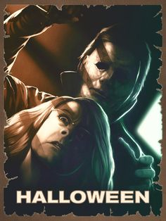 Create artwork inspired by the film Halloween Halloween Film, Halloween Series, Halloween Poster, Halloween 2018, Halloween Horror, Halloween Stuff, Halloween Treats, Horror Posters, Horror Icons