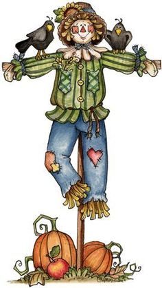 Scarecrow clip art for kids free clipart images 2 - Clipartix Autumn Painting, Autumn Art, Tole Painting, Scarecrow Drawing, Scary Scarecrow, Fall Clip Art, Fall Scarecrows, Arte Country, Halloween