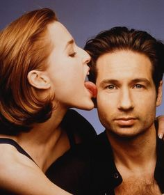 Gillian Anderson & David Duchovny.  Was so glad these two FINALLY hooked up on X-Files!!