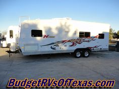 Tons-O-Fun Is Yours When You Break Out In This 2007 N'Tense 240N Toy Hauler