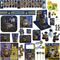 Wall E Birthday Party Supplies Create Your Set Own You Pick