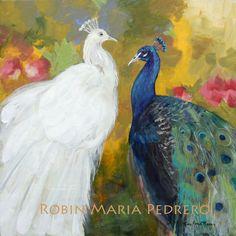 Royal Plumes Peacocks by Robin Maria Pedrero