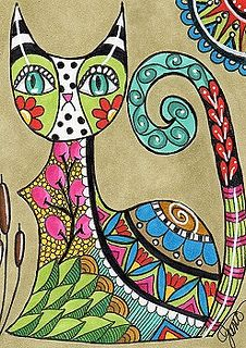 Zentangle Cats_04Swap