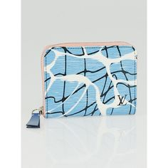 Pre-owned Louis Vuitton Limited Edition Aqua Epi Leather Zippy Coin... (£380) ❤ liked on Polyvore featuring bags, wallets, epi leather wallet, pocket bag, change purse wallet, blue bag and coin pouch wallet