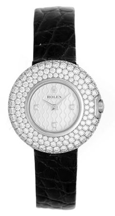 Rolex Cellini Orchid 18k White Gold Ladies Watch with 230 Diamonds  6201/9 BRIL