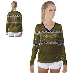 Georgia Southern Eagles GSU Womens Long Sleeve V-Neck Shirt Christmas Party Wonderland Design | MadeLoyal