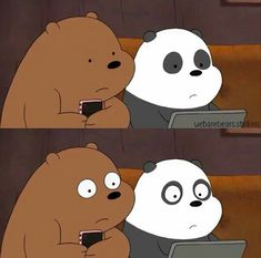 We bare bears Wallpaper Qoutes, Bear Wallpaper, Cartoon Wallpaper, Ice Bear We Bare Bears, We Bear, Funny Cartoon Memes, Cute Memes, Bear Cartoon, Cute Cartoon