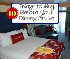 Disney Cruise Line is really great when it comes to having almost everything you need in your stateroom, but there are things to buy before your Disney Cruise.