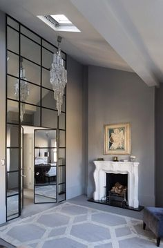 Sean cochrane mirrored wall living room luxury interior