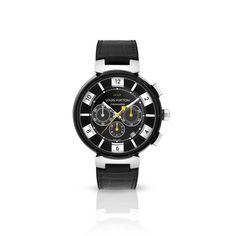 Louis Vuitton Tambour In Black LV277