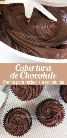Desserts Cake Cupcakes Buttercream Frosting Ideas For 2019 Cupcake Cream, Cupcake Frosting, Buttercream Frosting, Cupcake Cakes, Chocolate Ganache Frosting, Peanut Butter Frosting, Chocolate Cupcakes, Chocolate Chocolate, Chocolate Cherry
