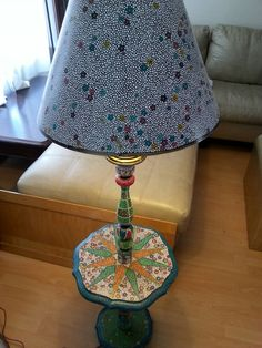 Lamp painted with dots  Www.facebook.com/allthingspainted24