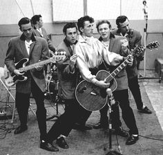 Gene Vincent and the Blue Caps.