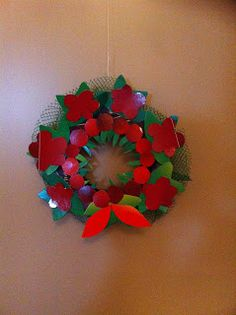 Think.Create.Craft: XMas Wreath - reuse vegetable net, curd container,...