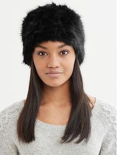 Faux fur Russian hat | Banana Republic  not sure if this would look good on me. BUT I WANT!!!!!!!