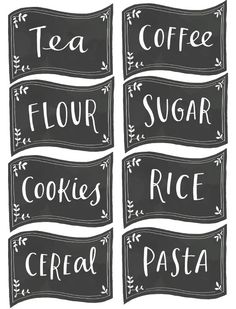 Free kitchen pantry labels