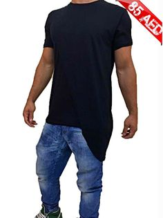 NEW ARRIVAL, The latest fashion trend for long t-shirt A very special design been brand hacked  Branded long side t-shirt  available in black only ( 85 per piece )  FREE DELIVERY Contact me on whatsapp  00971521793318