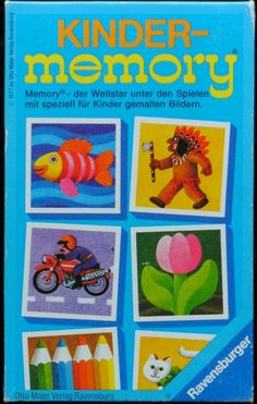 Ravensburger Kinder-Memory. Ich möchte das Photo-Memory lieber,  aber dieses war viel im Einsatz.