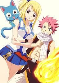 natsu, lucy and happy from fairy tail