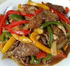 Recipe for Sauteed Beef Paprika by Dian - Sauteed Beef Peppers - Meat Recipes, Asian Recipes, Cooking Recipes, Healthy Recipes, Asian Desserts, Malay Food, Good Food, Yummy Food, Dining