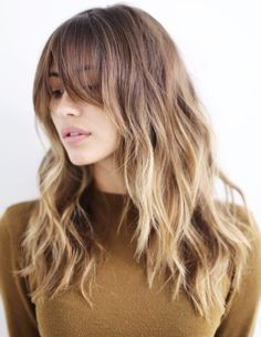 Brond - Love this color. Especially with bangs. Perfect mix of blond and brunette.