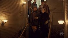 "Fargo 2x04 ""Fear and Trembling"" - Dodd Gerhardt (Jeffrey Donovan), Floyd Gerhardt (Jean Smart) & Bear Gerhardt (Angus Sampson)"