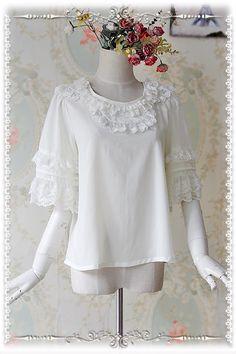 Infanta Chiffon Baby Doll Style Lolita Blouse