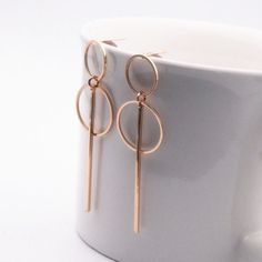 New Fashion Simple Gold/ Silver Long Circle Size Earrings for Ladies. #jewelry #earrings
