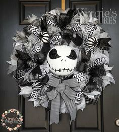 A personal favorite from my Etsy shop https://www.etsy.com/listing/540280015/xl-halloween-wreath-premium-halloween