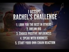 I have accepted this challenge of a young girl who died at a school named Columbia and anyone who wants to join me do please