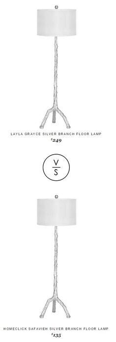 @LaylaGrayce Silver Branch Floor Lamp $249 Vs @homeclick Safavieh Silver Branch Floor Lamp $135