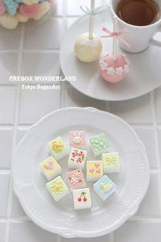 cube sugar decoration