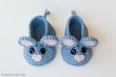 Field Mouse Crochet Baby Booties