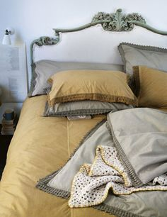 washed lace bedlinens