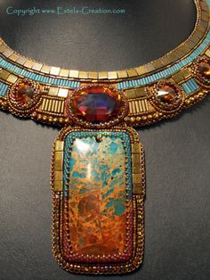 Queen of the Incas - Estella Creations - Unique Jewelry.... great statement necklace