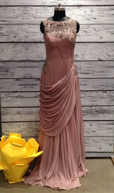 Code-428969-19950(w) Pretty Prom Dresses, Party Wear Dresses, Indian Designer Outfits, Designer Dresses, Designer Wear, Saree Gown, Lehenga, Latest Gown Design, Indowestern Gowns